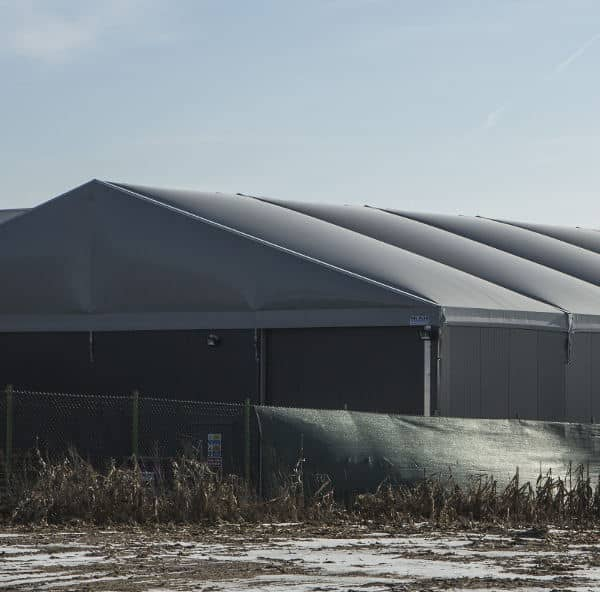 Lagerhalle aufblasbares Dach