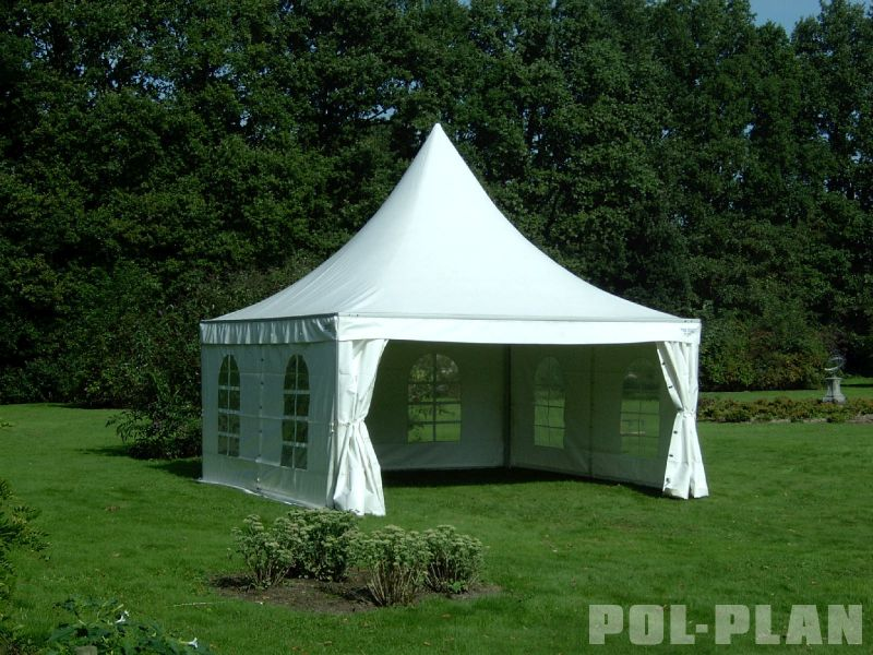 partyzelt pavillion 5 x 5 meter aus pvc 650g m2 pol plan. Black Bedroom Furniture Sets. Home Design Ideas