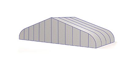 bogenhalle Hangar für Flugzeuge leichtbauhalle