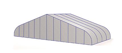 Leichtbauhalle spitzenhöhe bis 20m