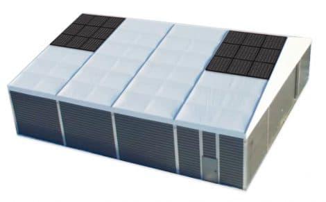 Leichtbauhalle mit Photovoltaik